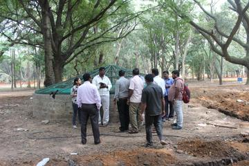 Discussions on piping and electric cables with Horticulture Dept